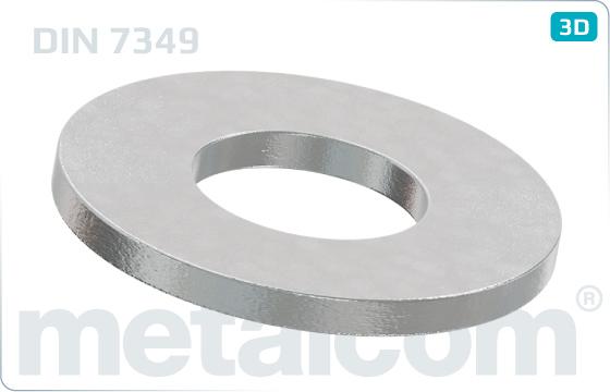 Podložky ploché pro šrouby s těžkými upínacími kolíky - DIN 7349