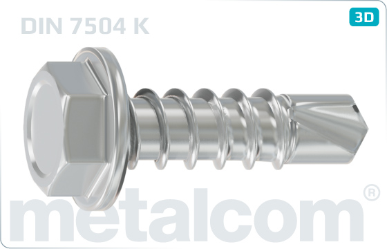 Self-drilling tapping screws hexagon flange head - DIN 7504