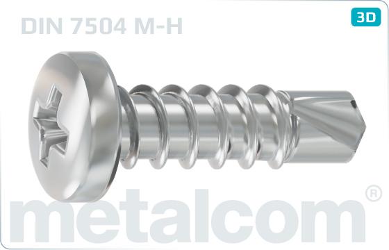 Self-drilling tapping screws cross recessed pan head - DIN 7504 M-H