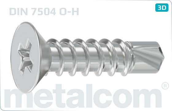 Self-drilling tapping screws cross recessed countersunk head - DIN 7504