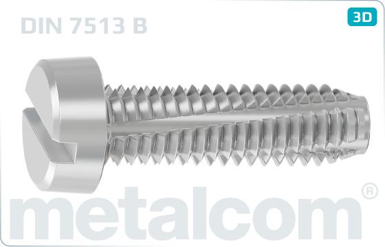 Schneidschrauben mit Zylinderkopf und mit Schlitz - DIN 7513