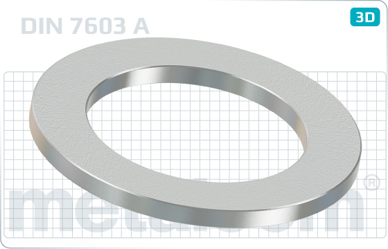 Podložky těsnící pro trubková šroubení a vypouštěcí zátky - DIN 7603 A