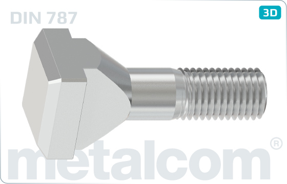 T-head bolts for T-slots - DIN 787