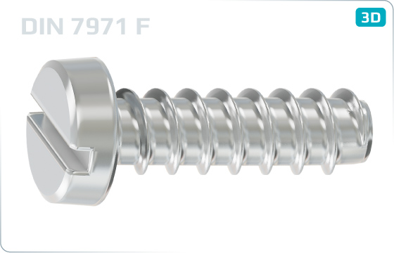 Tapping screws slotted pan head - DIN 7971