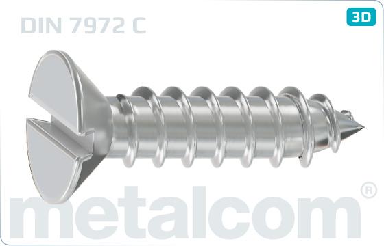 Blechschrauben mit Senkkopf und mit Schlitz - DIN 7972 C