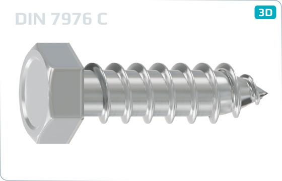 Tapping screws hexagon head - DIN 7976 C