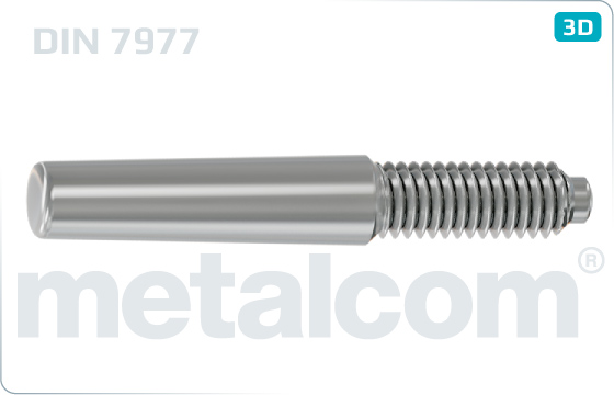 Taper pins with external thread and constant pin length - DIN 7977