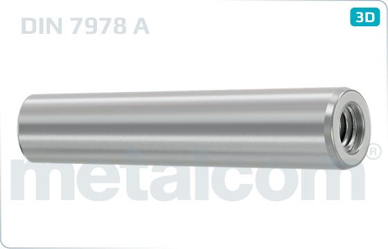Kolíky kuželové s vnitřním závitem nekalené - DIN 7978 A