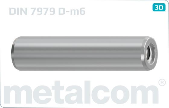 Kolíky válcové s vnitřním závitem - DIN 7979 D-m6