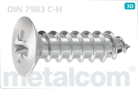 Blechschrauben mit Linsensenkkopf und mit Kreuzschlitz - DIN 7983 C-H