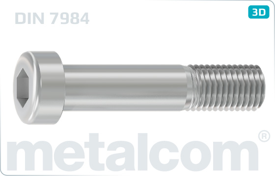 Hexagon socket screws cap reduced head - DIN 7984