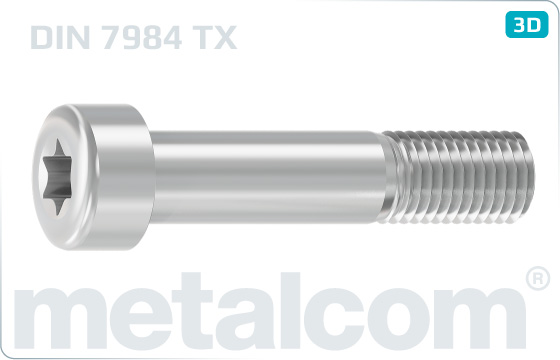 Hexalobular internal drive (TORX)screws cap reduced head - DIN 7984