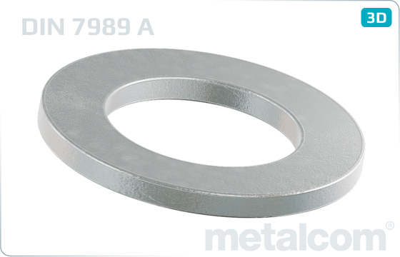 Plain washers for steel structures - DIN 7989 A