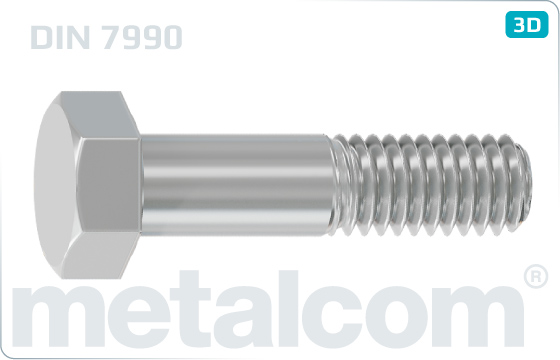 Hexagon head bolts for steel structures - DIN 7990