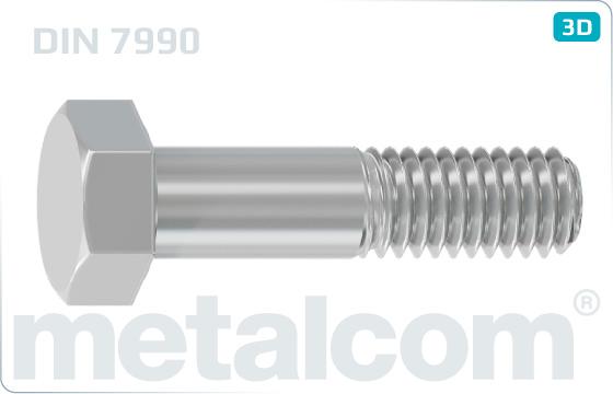 Skrutky so šesťhrannou hlavou pre oceľové konštrukcie - DIN 7990