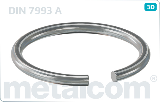 Lock washers snap rings for shafts - DIN 7993