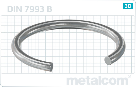 Lock washers snap rings for bores - DIN 7993