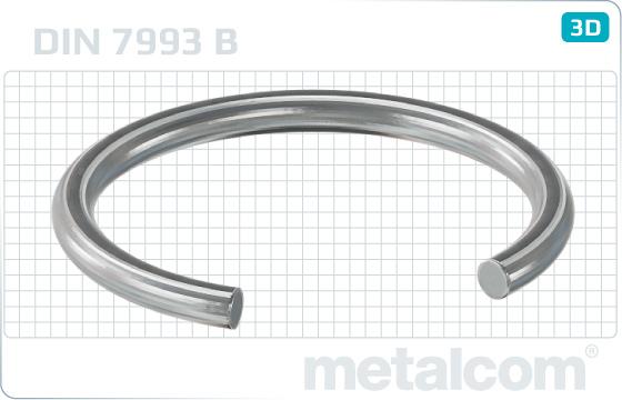 Pojistné kroužky drátěné kroužky pro díry - DIN 7993 B