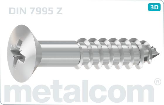 Wood screws cross recessed raised countersunk head - DIN 7995 Z