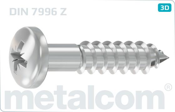 Wood screws cross recessed round head - DIN 7996 Z
