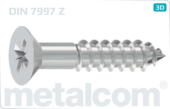 Holzschrauben mit Senkkopf und Kreuzschlitz - DIN 7997 Z