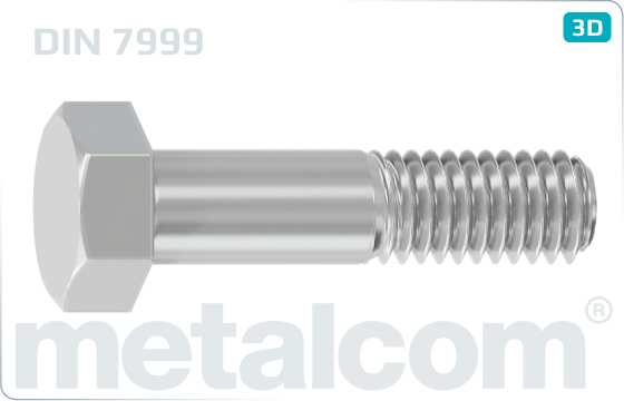 Hexagon fitted bolts with large head - DIN 7999