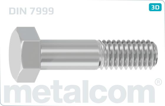 Skrutky so šesťhrannou hlavou lícované pre oceľové konštrukcie HV - DIN 7999