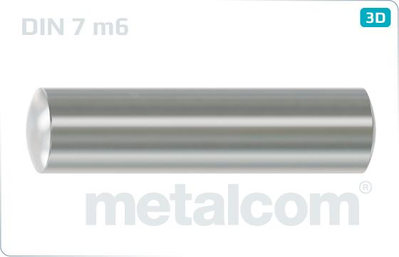 Kolíky válcové nekalené - DIN 7 m6