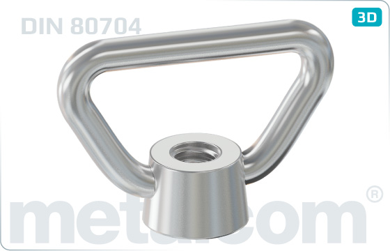 Lifting nuts bow nuts - DIN 80704