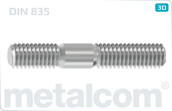 Stiftschrauben Einschraubende = 2d - DIN 835