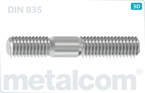 Studs metal end = 2d - DIN 835