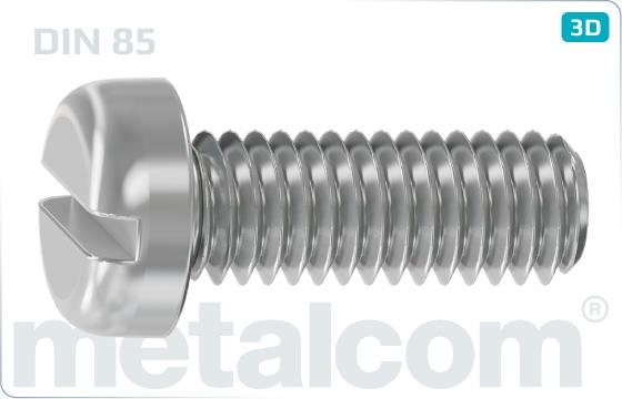Slotted screws pan head - DIN 85