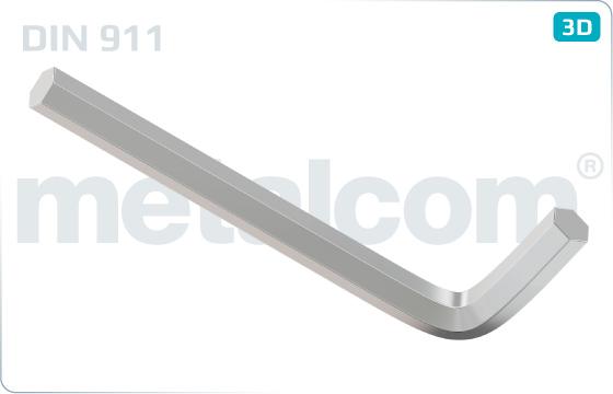 Śruby z wgłębieniem sześciokątnym na klucz typu L - DIN 911