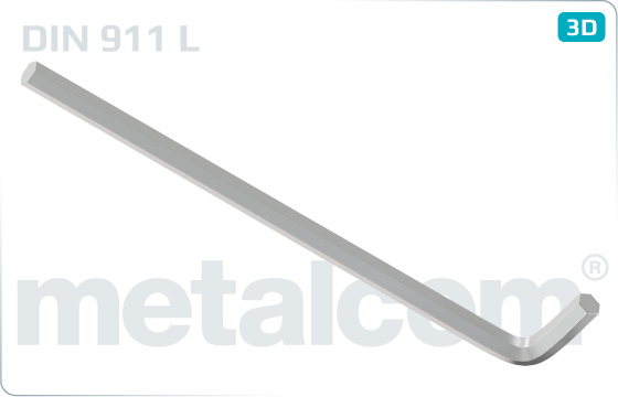 Wrenches for hexagon socket screws, long - DIN 911