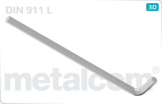 L-kľúče na skrutky s vnútorným šesťhrannom, dlhé - DIN 911 L