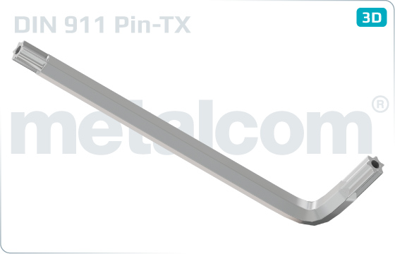Wrenches PIN-hexalobular internal drive (TORX) - DIN 911 PIN-TX