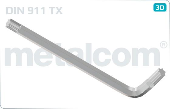 Śruby z wgłębieniem sześciokątnym do śrub z nacięciem TORX - DIN 911