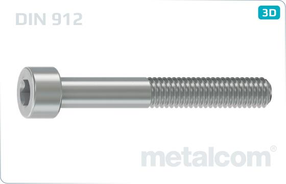 Śruby z wgłębieniem sześciokątnym z łbem walcowym - DIN 912