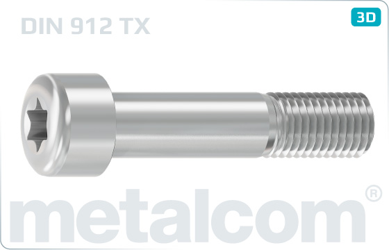 Hexalobular internal drive (TORX)screws cap head - DIN 912 TX