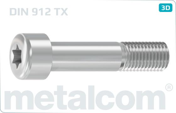 Šrouby s drážkou TORX a válcovou hlavou - DIN 912
