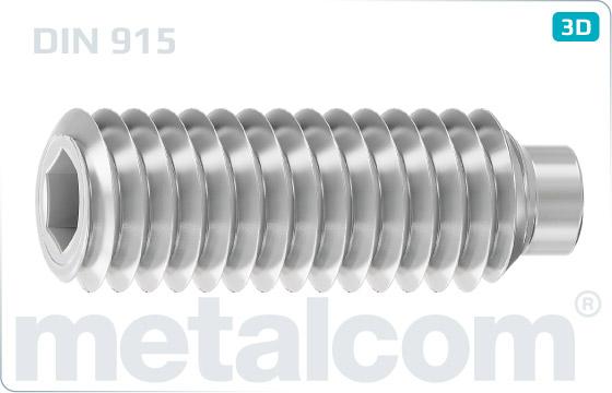 Wkręty dociskowe z gniazdem sześciokątnym i czopem cylindrycznym - DIN 915