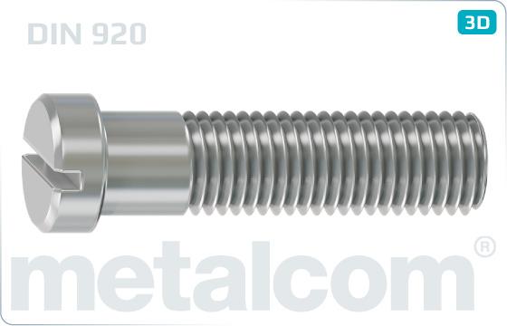 Schlitzschrauben mit kleinem Flachkopf - DIN 920