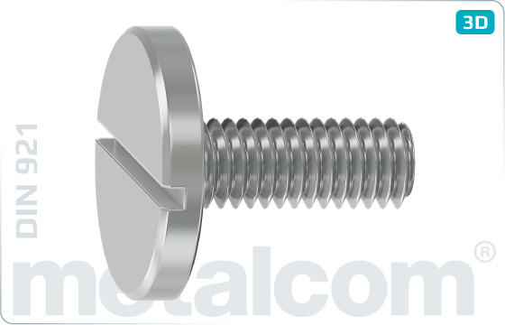 Slotted screws cheese large head - DIN 921