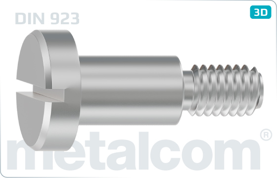Slotted screws cheese head shoulder - DIN 923