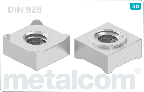 Square nuts weld - DIN 928