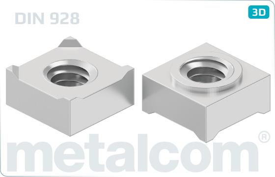 Nakrętki kwadratowe do zgrzewania - DIN 928