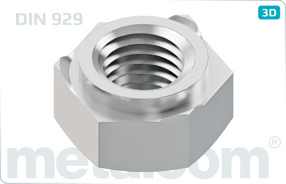 Hexagon nuts weld - DIN 929