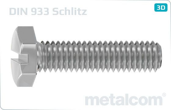 Hexagon slotted head screws - DIN 933