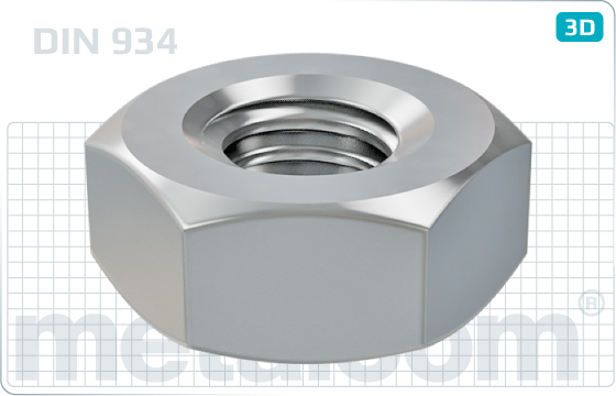 Hexagon nuts with metric fine thread - DIN 934