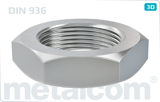 Hexagon nuts thin - DIN 936